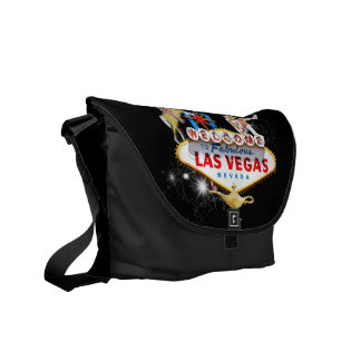 Las Vegas Welcome Sign Messenger Bag