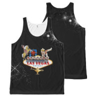 Las Vegas Welcome Sign On Starry Background All-Over-Print Tank Top