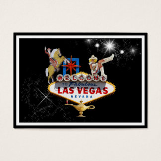 Las Vegas Welcome Sign On Starry Background Business Card