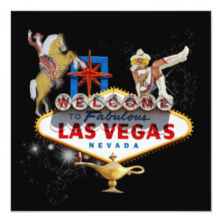 Las Vegas Welcome Sign On Starry Background Card