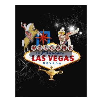 Las Vegas Welcome Sign On Starry Background Flyer
