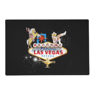 Las Vegas Welcome Sign On Starry Background Placemat