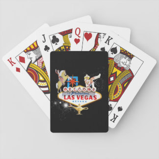Las Vegas Welcome Sign On Starry Background Playing Cards