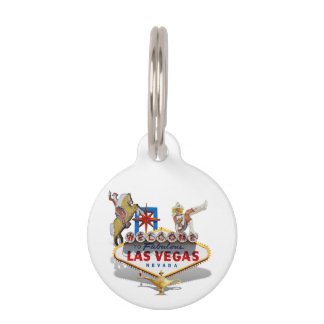 Las Vegas Welcome Sign Pet Name Tag