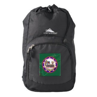Las Vegas Welcome Sign Red & Blue Poker Chip Backpack