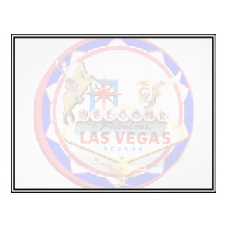 Las Vegas Welcome Sign Red & Blue Poker Chip Flyer