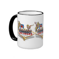 Las Vegas Welcome Sign Ringer Coffee Mug