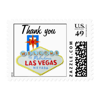 Las Vegas Welcome Sign Thank You Postage Stamp