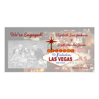 Las Vegas We're Engaged Photo Cards