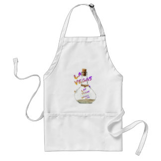 Las Vegas world city, water Bottle Adult Apron