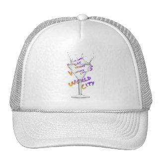 Las Vegas world city, Water Glass Trucker Hat