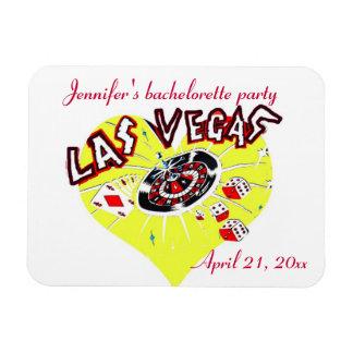 Las Vegas Yellow Heart Bachelorette Party Rectangular Photo Magnet