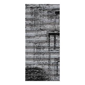 las ventanas y los garabatos grises en el metal lona personalizada