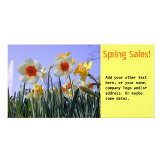 Las ventas de la primavera distribuyen tarjeta con foto personalizada