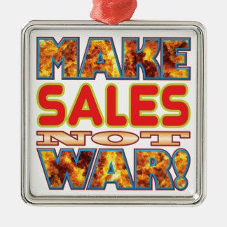 Las ventas hacen X Adorno Cuadrado Plateado