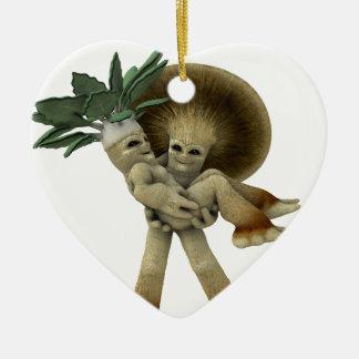Las verduras adorables - lléveme a casa adorno navideño de cerámica en forma de corazón