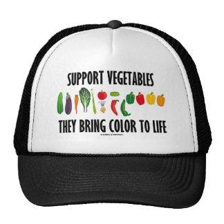 Las verduras de la ayuda traen color a la vida gorras de camionero