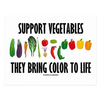 Las verduras de la ayuda traen color a la vida postales