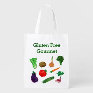 Las verduras del mercado de los granjeros personal bolsas reutilizables