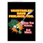 Las verduras tienen sensaciones, también tarjeta