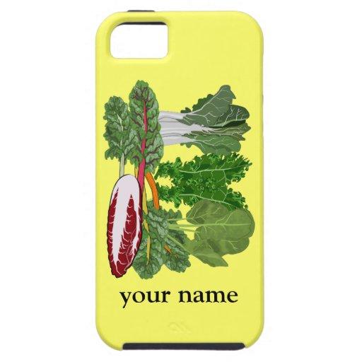 Las verduras verdes personalizaron el iphone 5 del iPhone 5 protector