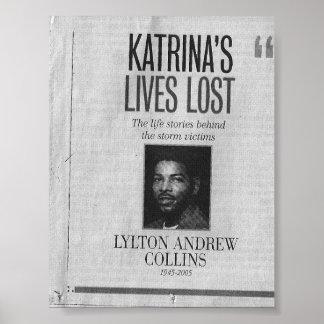 Las vidas de Katrina perdidas: Lylton Collins Poster