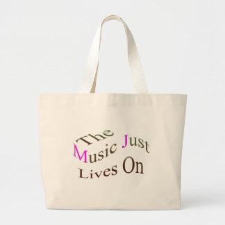 Las vidas de la música apenas encendido bolsas