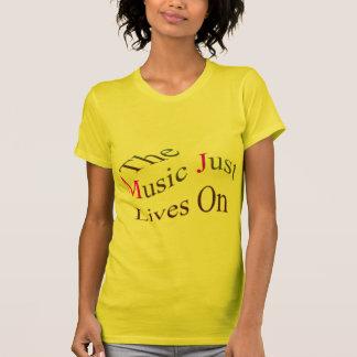 Las vidas de la música apenas encendido camiseta