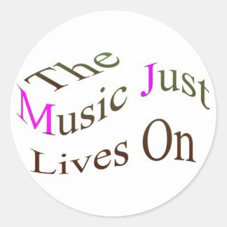 Las vidas de la música apenas encendido etiquetas redondas