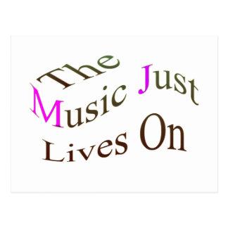 Las vidas de la música apenas encendido postal