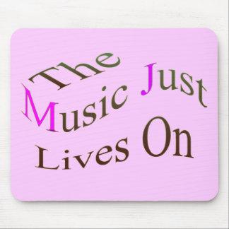Las vidas de la música apenas encendido alfombrilla de ratones