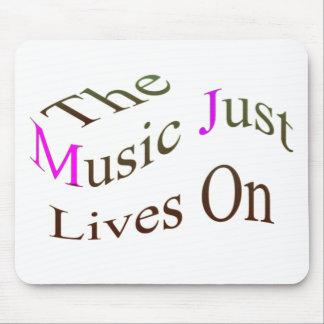Las vidas de la música apenas encendido tapetes de raton