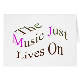Las vidas de la música apenas encendido felicitaciones