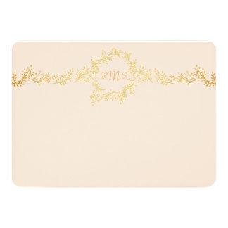 """Las vides del oro personalizaron la tarjeta de los invitación 5"""" x 7"""""""