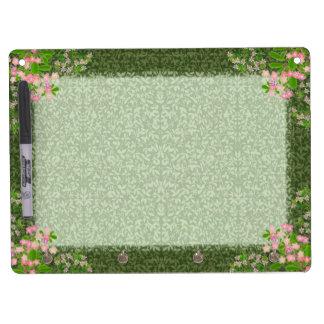 Las vides florales del Victorian secan al tablero  Tablero Blanco