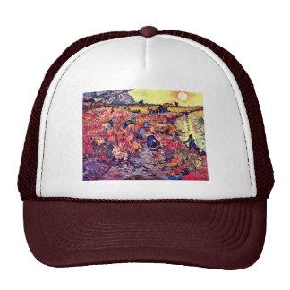 Las vides rojas de Vincent van Gogh Gorras