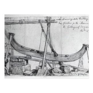 Las vigas móviles del hierro usadas construyen el tarjeta postal