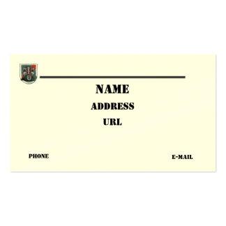 las vigésimas fuerzas especiales agrupan la tarjetas de visita