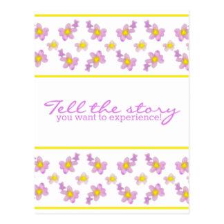 ¡Las violetas - cuente la historia que usted Tarjetas Postales