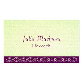 Las violetas de los verdes de Mariposa Tarjetas De Visita