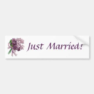 Las violetas del vintage acaban de casar a la pega pegatina para auto