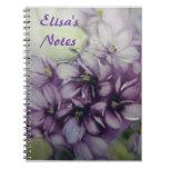 Las violetas personalizaron el cuaderno