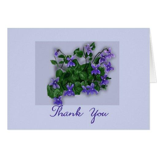 Las violetas salvajes le agradecen tarjetón