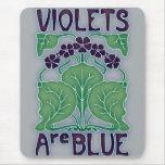 Las violetas son azules alfombrilla de ratones