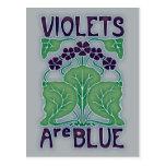 Las violetas son azules postal