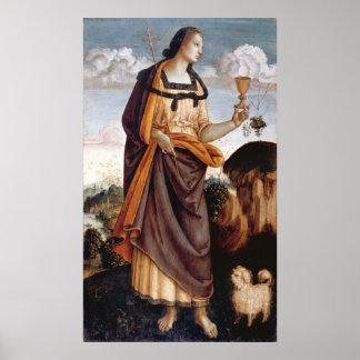 Las virtudes teológicas Fe Poster