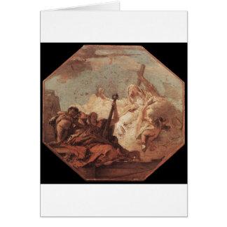 Las virtudes teológicas Juan Battista Tiepolo Tarjeta De Felicitación