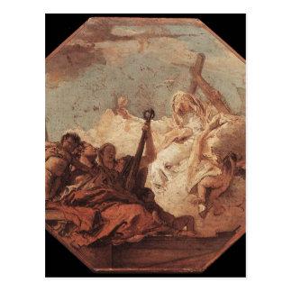 Las virtudes teológicas Juan Battista Tiepolo Tarjeta Postal