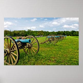 Las vistas del parque militar de Shiloh en Shiloh Posters