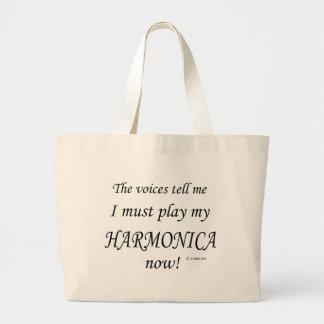 Las voces de la armónica dicen deben jugar bolsa tela grande
